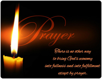 Candle and a Word on Prayer